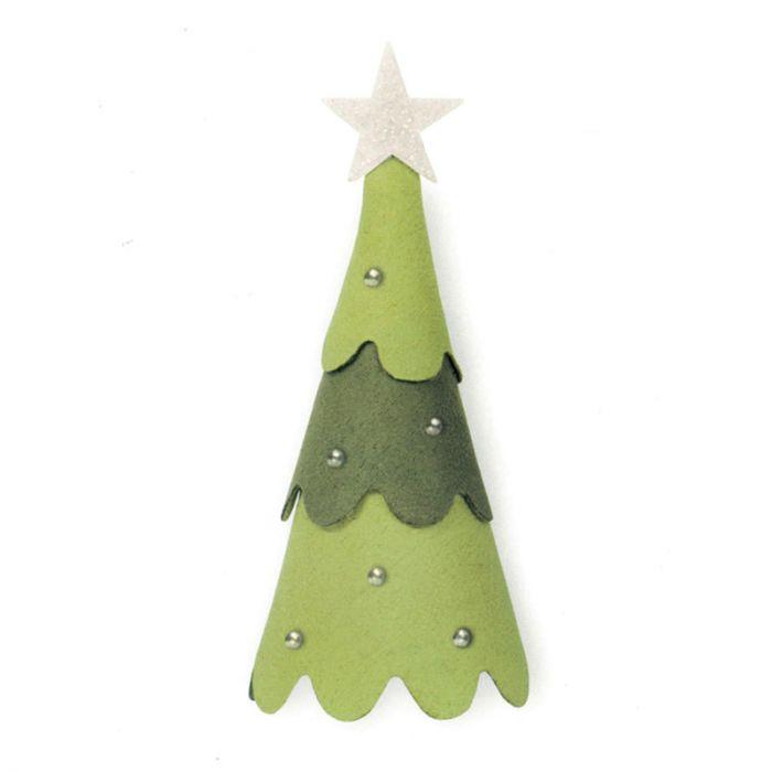 Albero Di Natale 3d.Fustella Sizzix Bigz L Albero Di Natale 3d 663790