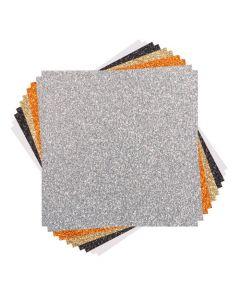 Set 10 fogli di cartoncino Glitter Cricut - 30,5 x 30,5 cm
