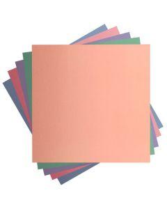 Set 10 fogli di cartoncino opaco tonalità pastello Cricut - 30,5 x 30,5 cm