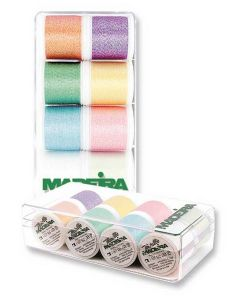 Box 8 fili ricamo Metallic Supertwist Opal Madeira - mt. 200