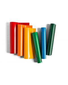 Set 6 fogli di vinile Premium Rimovibile 30,5 x 30,5 cm - Colori luminosi