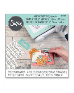Set 10 fogli adesivi permanenti Sizzix - 656802