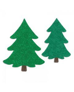 """Fustella Sizzix Bigz L """"Alberi di Natale"""" - 658109"""