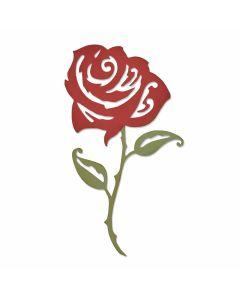 """Fustella Sizzix Thinlits """"Rosa complessa"""" - 661064"""