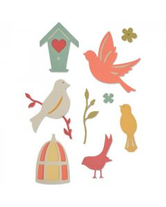 "Fustella Sizzix Thinlits ""Uccellino dolce"" - 661233"