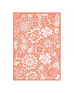 "Fustella Sizzix Embossing Folder Plus ""Merletto botanico"" - 661340"