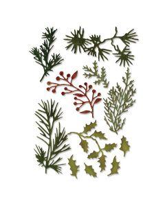"Fustella Sizzix Thinlits ""Mini verde di festa"" - 661597"