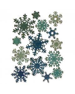 """Fustella Sizzix Thinlits """"Mini fiocchi di neve di carta"""" - 661599"""
