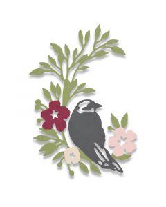 """Fustella Sizzix Thinlits """"Uccello canterino"""" - 661749"""