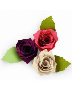 "Fustella Sizzix Bigz ""Rosa 3D con foglia"" - 661750"