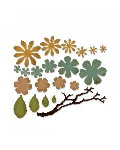 """Fustella Sizzix Thinlits """"Piccoli fiori laceri"""" - 661806"""