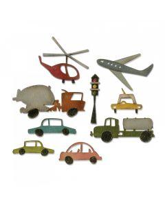 "Fustella Sizzix Thinlits ""Paesaggio urbano, veicoli"" - 661809"