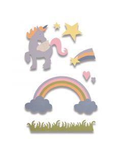 """Fustella Sizzix Thinlits """"Unicorno magico"""" - 662096"""