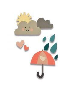 """Fustella Sizzix Thinlits """"Pioggia e sole"""" - 662097"""
