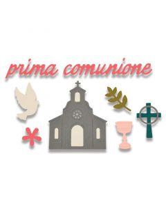 """Fustella Sizzix Thinlits """"Prima comunione"""" - 662116"""