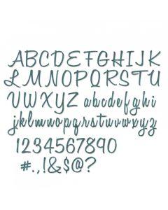 "Fustella Sizzix Thinlits ""Alfabeto e numeri (2,54 cm)"" - 662228"