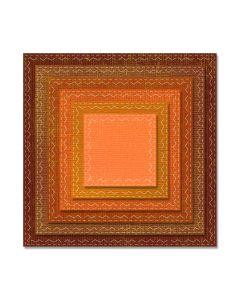"""Fustella Sizzix Framelits """"Quadrati cuciti"""" - 662231"""