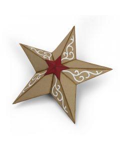 """Fustella Sizzix Bigz """"Stella di Natale 3D"""" - 662285"""