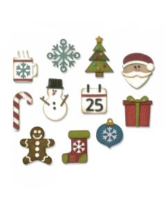 """Fustella Sizzix Thinlits """"Piccole cose di Natale"""" - 662418"""