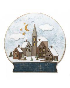"""Fustella Sizzix Thinlits """"Palla di vetro con neve #2"""" - 662421"""