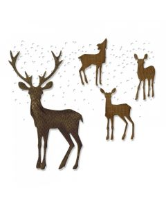 "Fustella Sizzix Thinlits ""Cervi, paese delle meraviglie invernale"" - 662426"