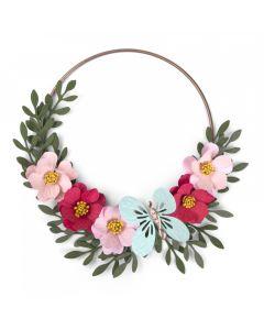 """Fustella Sizzix Bigz """"Farfalle e fiori decorativi"""" con Embossing - 662442"""