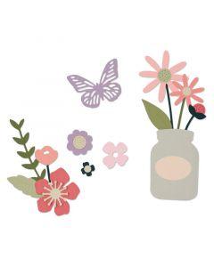 "Fustella Sizzix Thinlits ""Fiori da giardino"" - 662514"