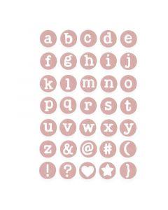 "Fustella Sizzix Thinlits ""Lettere minuscole delicate"" - 662520"
