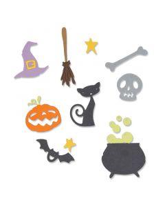 """Fustella Sizzix Thinlits """"Set di Halloween"""" - 662580"""