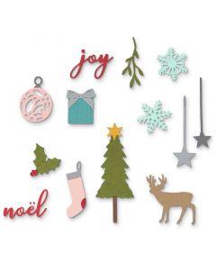 "Fustella Sizzix Thinlits ""Set natalizio"" - 662581"