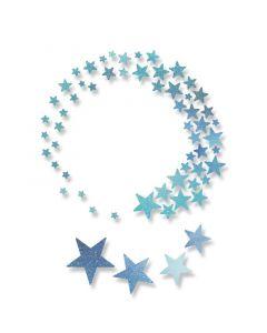 "Fustella Sizzix Thinlits stelle ""Whoosh!"" - 662582"