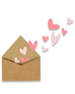 "Fustella Sizzix Thinlits ""Bustina amorosa con cuori"" - 662597"