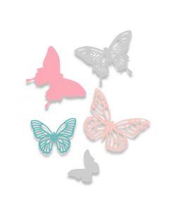 """Fustella Sizzix Thinlits """"Farfalle"""" - 662607"""