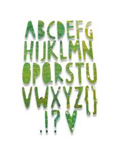 "Fustella Sizzix Thinlits ""Alfabeto Papercuts"" - 662667"