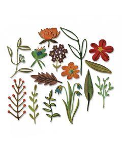 "Fustella Sizzix Thinlits ""Set floreale naturale #2"" - 662701"