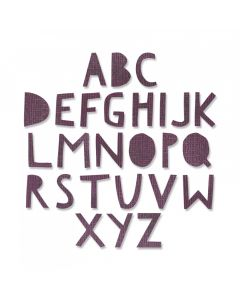 "Fustella Sizzix Thinlits Alfabeto maiuscolo ""Cutout Upper 1,91 cm"" - 663073"