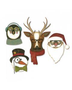 "Fustella Sizzix Thinlits ""Natale cool"" - 663099"