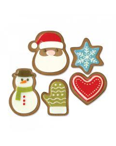 """Fustella Sizzix Thinlits """"Biscotti natalizi #1"""" - 663100"""