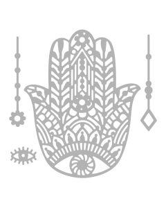 """Fustella Sizzix Thinlits """"Mano di Fatima, Khamsa"""" - 663367"""