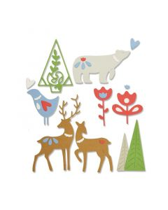 "Fustella Sizzix Thinlits ""Elementi natalizi"" - 663413"
