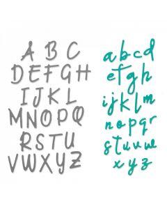 """Fustella Sizzix Thinlits """"Set alfabeto maiuscolo e minuscolo"""" - 663421"""