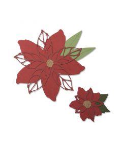 """Fustella Sizzix Thinlits """" Stella di Natale"""" - 663464"""