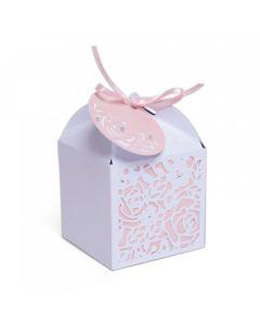 "Fustella Sizzix Thinlits ""Scatola decorata per bomboniere"" - 663465"