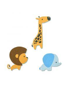 """Fustella Sizzix Thinlits """"Cuccioli della giungla"""" - 663580"""