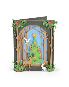 """Fustella Sizzix Thinlits """"Biglietto natalizio"""" - 663611"""