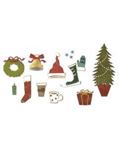 "Fustella Sizzix Thinlits ""Elementi festivi natalizi"" - 664191"