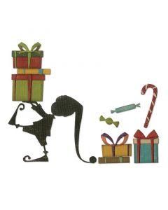 """Fustella Sizzix Thinlits """"Aiutante di Babbo Natale"""" - 664192"""