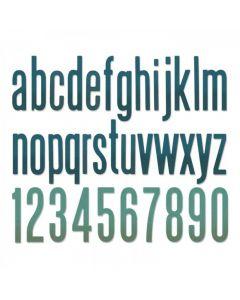 """Fustella Sizzix Thinlits """"Alfabeto classico minuscolo e numeri"""" - 664224"""