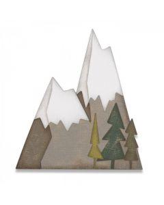 "Fustella Sizzix Thinlits ""Paesaggio alpino"" - 664225"