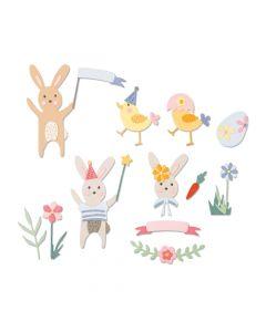 """Fustella Sizzix Thinlits """"Festeggiamenti di Pasqua"""" - 664357"""